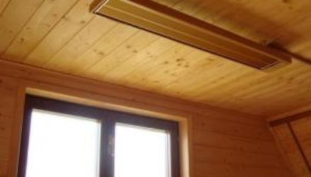 Отопление в загородных домах: использование инфракрасных обогревателей